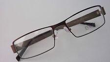 Markante Brillenfassung Herrenbrille Neu Brillengestell braun Metall size M