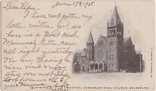 1908 Galesburg Illinois Ill Postcard Central Congregational Church