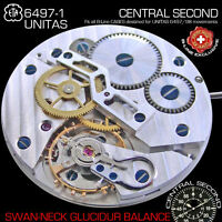 MOVEMENT ETA UNITAS 6497-1, CENTRAL SECOND, SWAN NECK, GLUCYDUR SCREW BALANCE