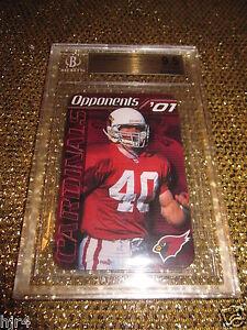 Pat Tillman 2001 Arizona Cardinals NFL Pepsi Schedule RC BGS 9.5 Rookie 1st Card