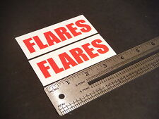 """Flares Decal Red Marine Boat Safety 3.5"""" Stickers (Pair)"""