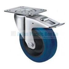 Wheel & Castor - Heavy Duty - SB,Blue 100mm Swivel Plate & Brake