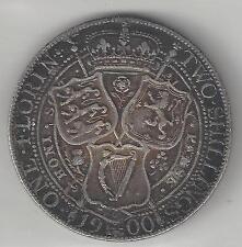 GREAT BRITAIN,  1900,  FLORIN,  SILVER,  KM#781,  VERY FINE-EXTRA FINE+