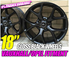 "18"" GLOSS BLACK VXR STYLE ALLOY WHEELS FITS VAUXHALL CORSA D 06"