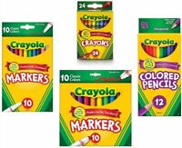 Crayola Crayons, Crayola Colored Pencils, Crayola Markers! VALUE BUNDLE