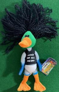INfamous Meanies 1998 MALLARD STERN Quack of All Media Bean Bag Plush New w/ Tag