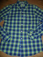 schönes Herren Hemd Bluse HOLLISTER Langarmhemd Gr.M 39/40 grün blau kariert