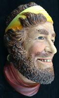 Vtg Legend Products Chalk Head Gypsy Made in England Realistic Eyes Teeth Beard