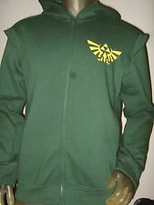 Nwt Men's M The Legend Of Zelda Triforce Link Costume Shield Logo Hoodie Sweater
