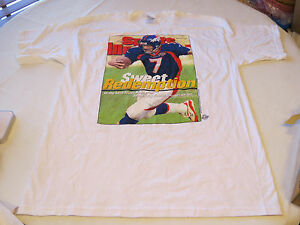 Mens XL NFL Super Bowl Sports Illustrated Denver Broncos t shirt football SPOTS