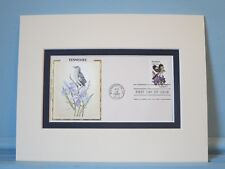 State Bird & Flower of Tennessee - the Mockingbird & Iris & First Day Cover