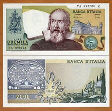Italy, 2000 Lire, L. 1973 (24-10-1983), P-103 (103c), UNC   Gallileo