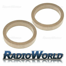 """6.5"""" 165mm MDF Speaker Spacer Mounting Rings 30mm Thick ID 144mm ED 176mm Pair"""