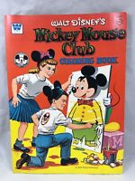 Vintage 1957 MCMLVII Walt Disney Mickey Mouse Club Coloring Book by Whitman USA