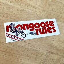 Mongoose Rules Autocollant Old school BMX Autocollant-Raleigh Burner 🇺 🇸 1980 S