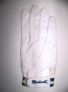 ADULT BATTERS GLOVE -MARKWORT - WHITE -ADULT RIGHT SIZE MEDIUM