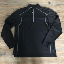 Men's Under Armour All Season Gear Loose 1/4 Zip Sweatshirt - Black - Size Small
