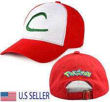 Pokemon Trainer Hat Cosplay Ash Ketchum Costume Baseball Cap Anime Pokedex
