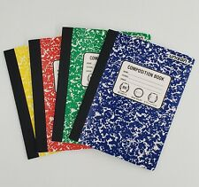 4 Composition Books wide Ruled Paper Notebook 80 Sheets Each School Office