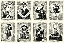 DAMAGED EXHIBITION LITHOGRAPH SET : SIGNED + NUMBERED : OBEY : SHEPARD FAIREY