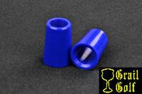 "NEW SUPER PREMIUM ELEC BLUE GOLF FERRULES .370 COLOR .79"" LENGTH IRON .540OD LOT"