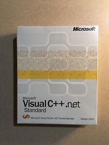 New Microsoft Visual C++ .NET Standard Edition 2003 SEALED
