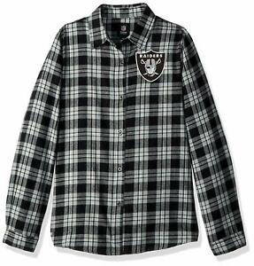 Forever Collectibles NFL Women's Oakland Raiders Check Flannel Shirt