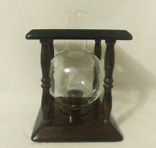 Primitive Vintage Wood Candle and Glass Holder Handmade
