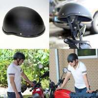 Low Profile Matte Black Motorcycle ABS Half Helmet Cruiser Biker German Style