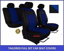 Blue Eco-Leather Tailored Full Set Seat Covers for NISSAN X-TRAIL Mk3 2014 - on