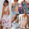Casual Women Sexy Casual Evening Party Short Mini Dress Beach Sundress