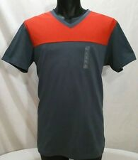 Uniqlo Shirt Men's Size L Color Block V Neck T  Short Sleeve NWT New