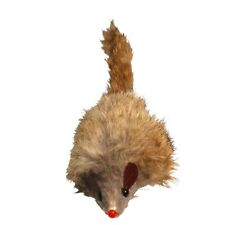 """Juguete gato ratón de piel de pelo largo - 3""""x 12 James & Steel Gatito caza Chase Alimento"""