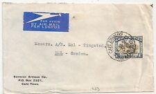 COVER SOUTH AFRICA CAPETOWN TO SWEDEN. 1938  L463