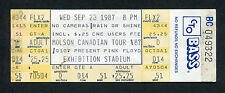 1987 Pink Floyd Unused Full concert ticket Momentary Lapse of Reason CNE Toronto