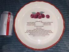 RASPBERRY PIE Recipe PLATE DISH Ceramic