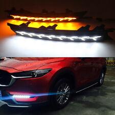 For Mazda CX-5 CX5 2017-2019 LED DRL Daytime Running Light Turn Signal Lamp