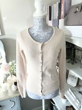 Monsoon Light Pink Angora Wool Mix Cardigan Size Small