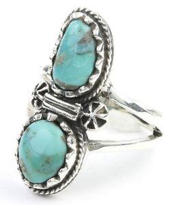 Sterling Silver Turquoise Ring, Stone Jewelry, Gemstone, Southwestern, Boho