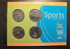 2006 50 cent COMM GAMES unc coins CYCLING AQUATICS HOCKEY ATHLETICS+ BOOK/STAMPS