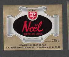Ancienne étiquette Bière Alcool France  VV13 Noël  Hordain