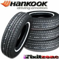 4 Hankook Optimo H724 P185/75R14 89S White Wall WSW All Season Touring Tires