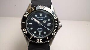 Rare NOS Seiko Alba Aqua Gear APBD077 V145-0J90 Solar Scuba 200m; Strap
