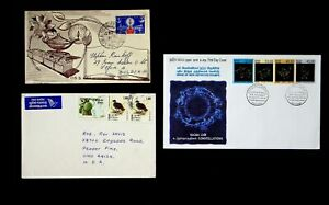 SRI LANKA NEW DEF. CONSTELLATIONS 2 FDCs+ AIRMAIL COVER W/ 8v TO BULGARIA & USA