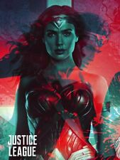 Wonder Woman Poster Justice League Movie Art Print (18x24)