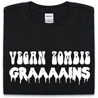 Vegan Zombie Grains T-Shirt Mens Womens funny novelty vegetatian undead zombies