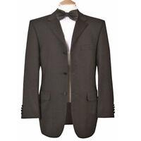 Formal Wedding Dinner Dress Tuxedo Black Tie Event Jacket in Black (.2)