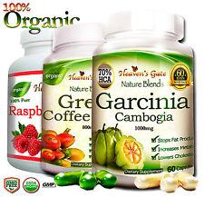GARCINIA CAMBOGIA GREEN COFFEE BEAN RASPBERRY KEYTONE WEIGHT LOSS DETOX