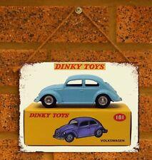 Vintage Tin Sign Dinky Car VW Beetle   Metal Sign Man Cave Volkswagen