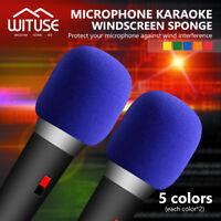 Handheld Stage Microphone Karaoke DJ Windscreen Windshield Foam Mic Cover 10Pcs